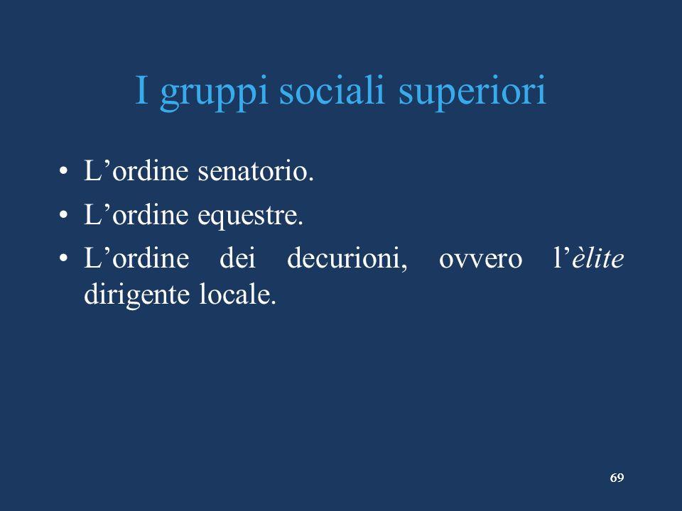 I gruppi sociali superiori