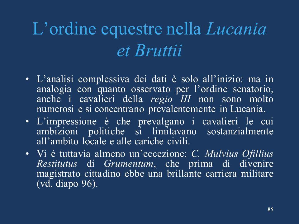 L'ordine equestre nella Lucania et Bruttii