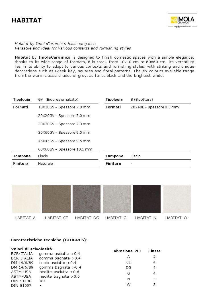 HABITAT A 5 CE 4 DG G N 3 W Habitat by ImolaCeramica: basic elegance
