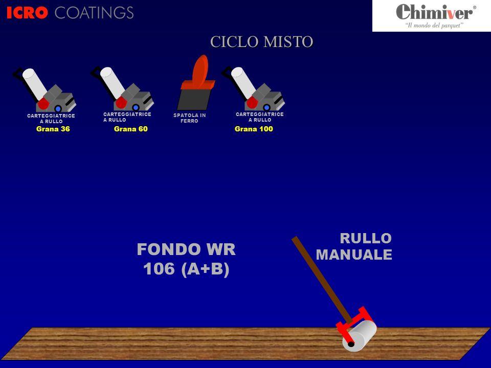 ICRO COATINGS CICLO CICLO MISTO FONDO WR 106 (A+B) RULLO MANUALE