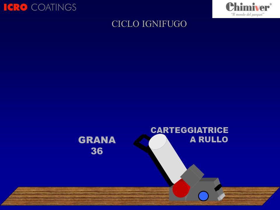 ICRO COATINGS CICLO IGNIFUGO CARTEGGIATRICE A RULLO GRANA 36