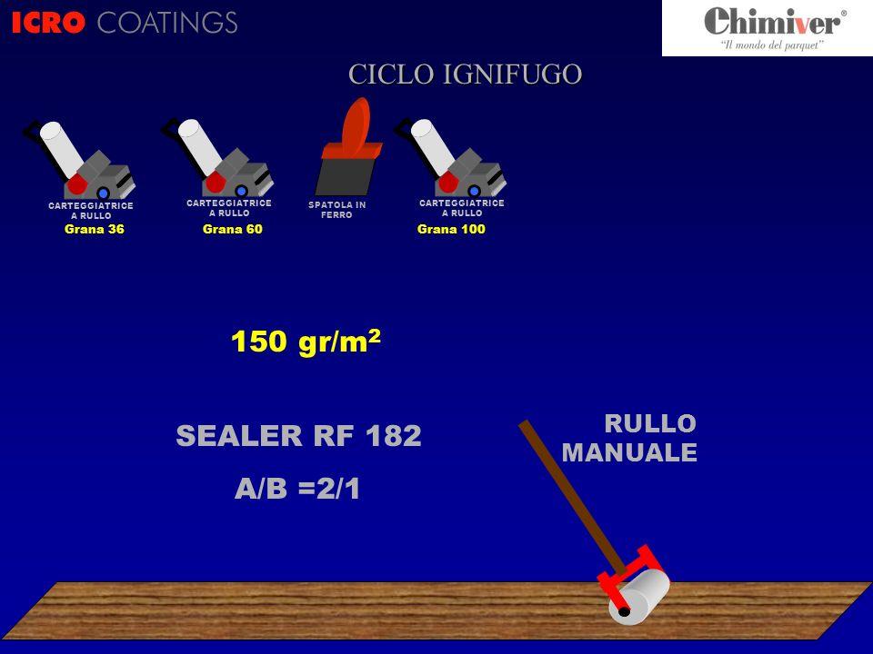 ICRO COATINGS CICLO CICLO IGNIFUGO 150 gr/m2 SEALER RF 182 A/B =2/1