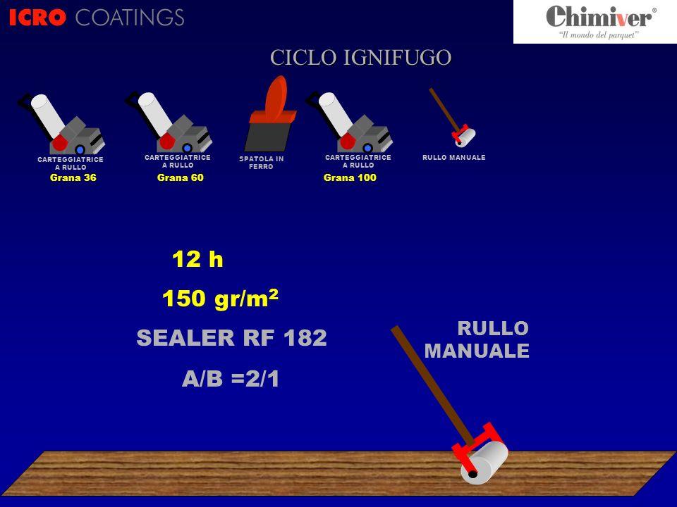 ICRO COATINGS CICLO CICLO IGNIFUGO 12 h 150 gr/m2 SEALER RF 182