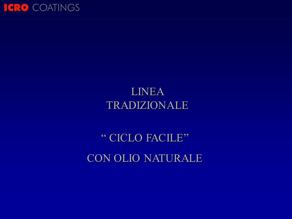 ICRO COATINGS LINEA TRADIZIONALE CICLO FACILE CON OLIO NATURALE