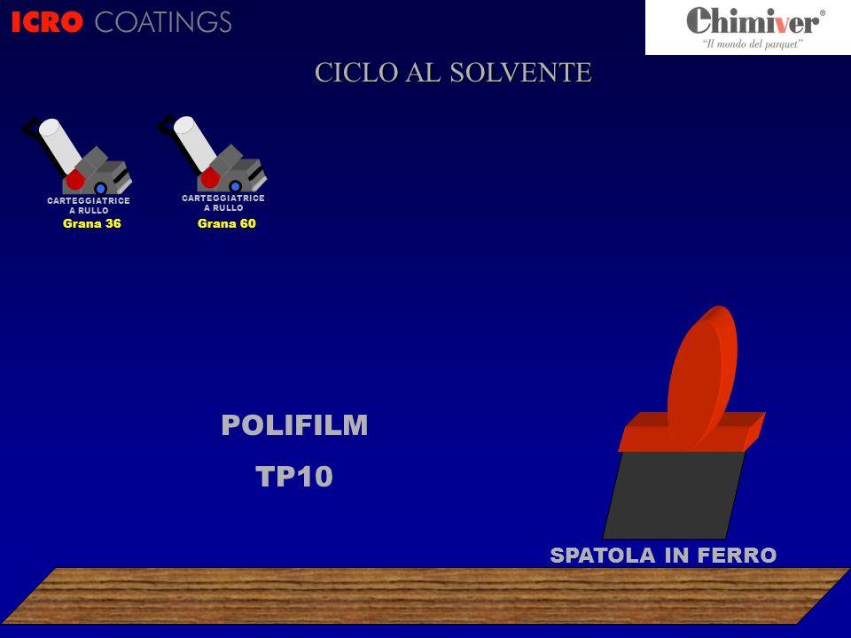 ICRO COATINGS CICLO AL SOLVENTE POLIFILM TP10 SPATOLA IN FERRO