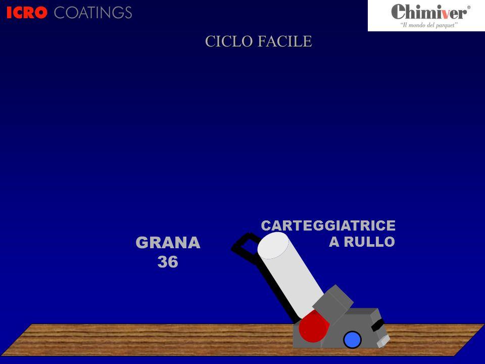 ICRO COATINGS CICLO FACILE CARTEGGIATRICE A RULLO GRANA 36