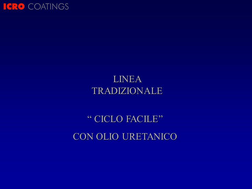 ICRO COATINGS LINEA TRADIZIONALE CICLO FACILE CON OLIO URETANICO