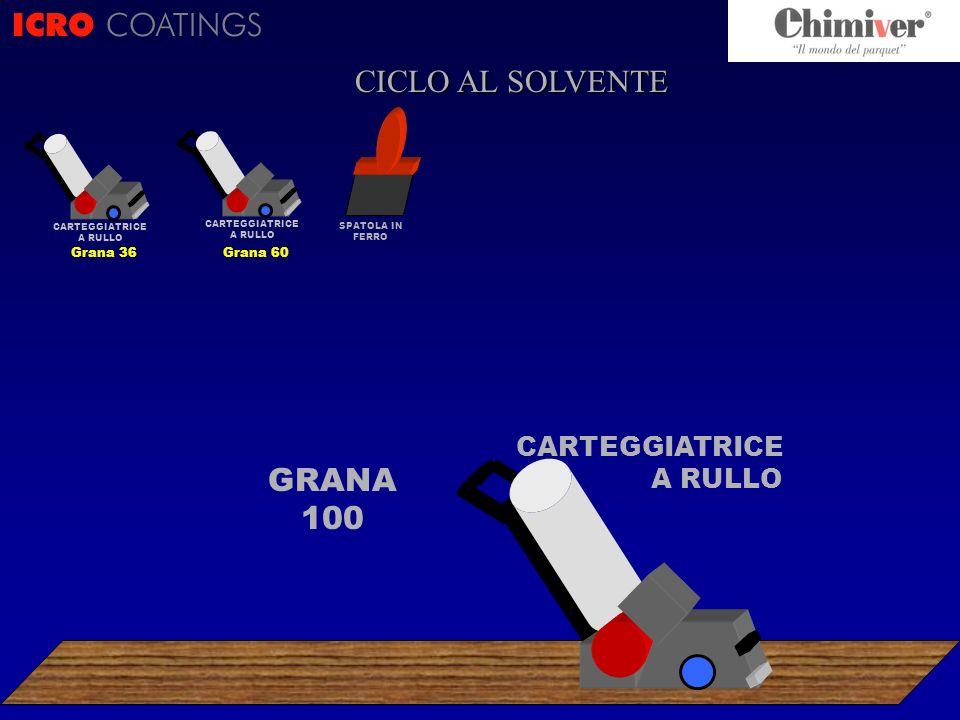 ICRO COATINGS CICLO AL SOLVENTE GRANA 100 CARTEGGIATRICE A RULLO