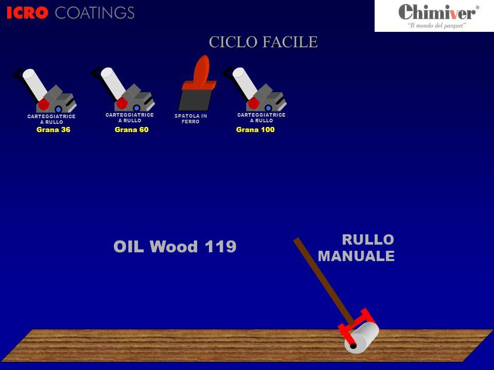 ICRO COATINGS CICLO FACILE OIL Wood 119 RULLO MANUALE Grana 36