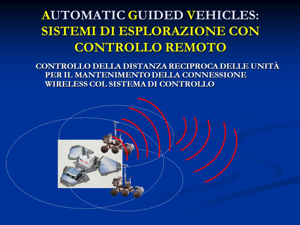 AUTOMATIC GUIDED VEHICLES: SISTEMI DI ESPLORAZIONE CON CONTROLLO REMOTO