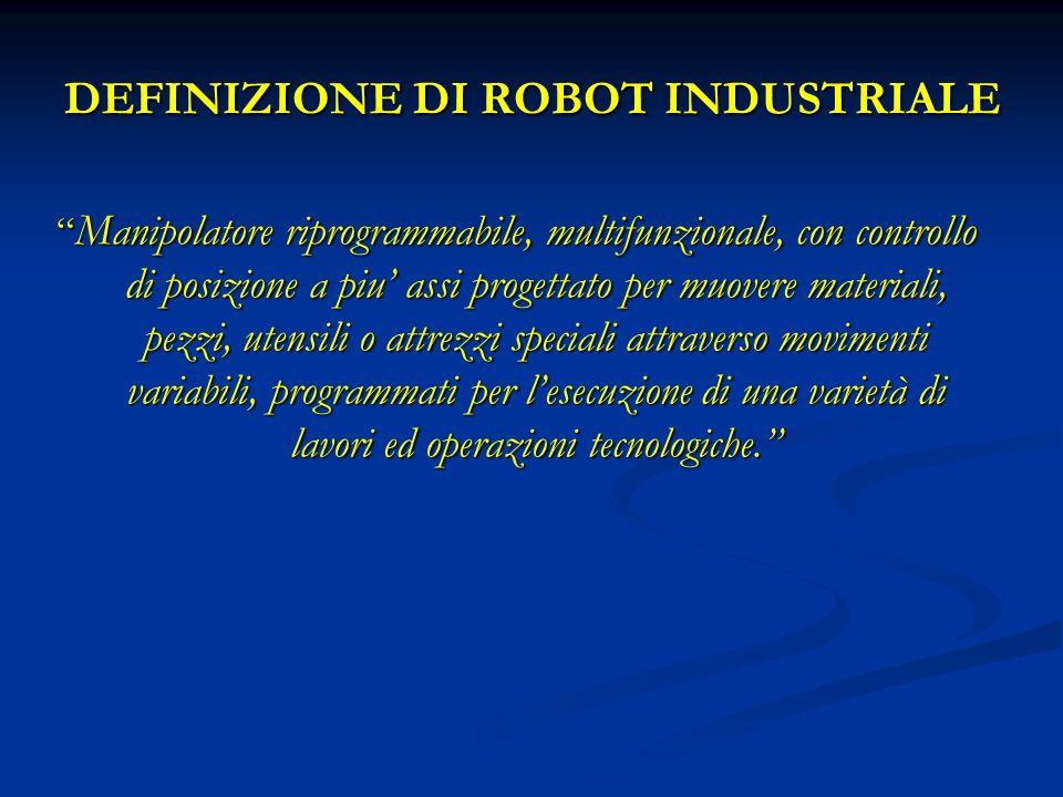 DEFINIZIONE DI ROBOT INDUSTRIALE