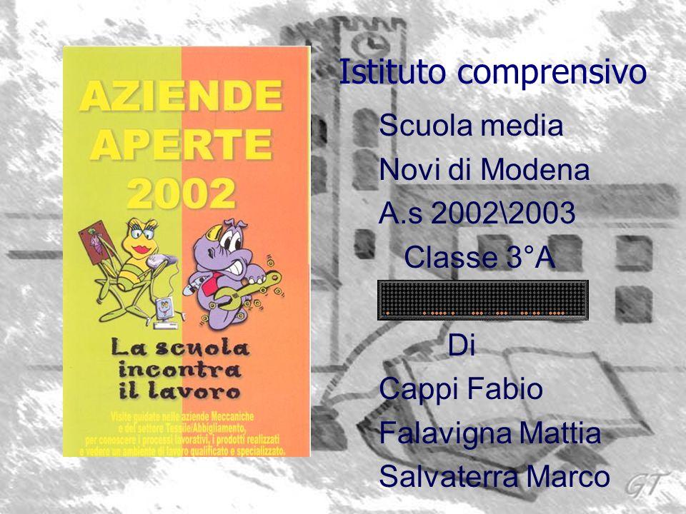 Istituto comprensivo Scuola media Novi di Modena A.s 2002\2003