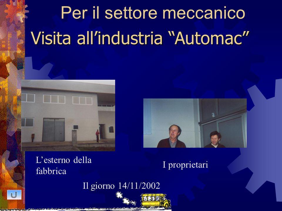 Per il settore meccanico