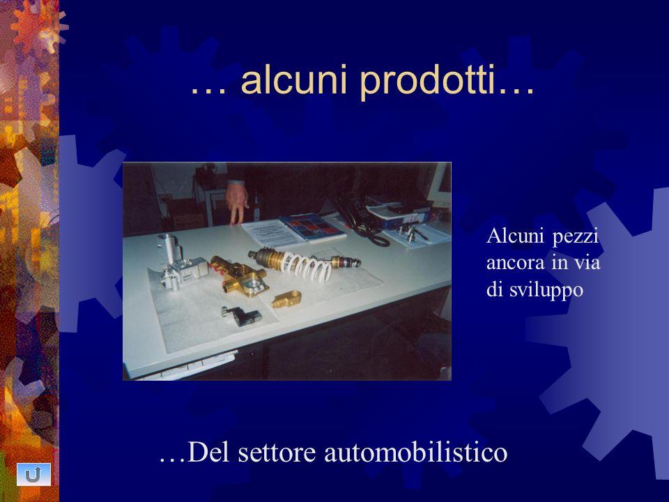 … alcuni prodotti… …Del settore automobilistico