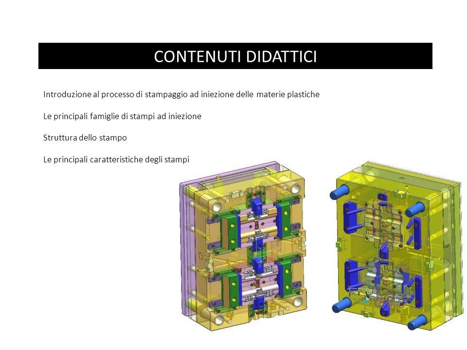 CONTENUTI DIDATTICI Introduzione al processo di stampaggio ad iniezione delle materie plastiche. Le principali famiglie di stampi ad iniezione.