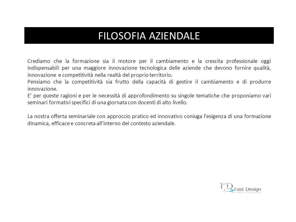 FILOSOFIA AZIENDALE