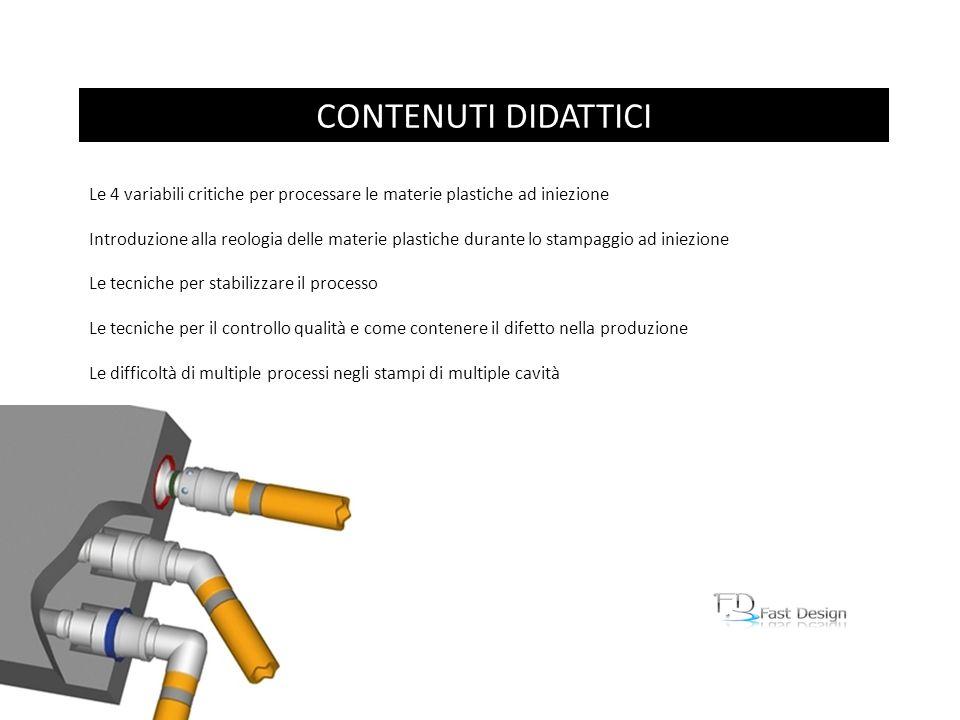 CONTENUTI DIDATTICI Le 4 variabili critiche per processare le materie plastiche ad iniezione.