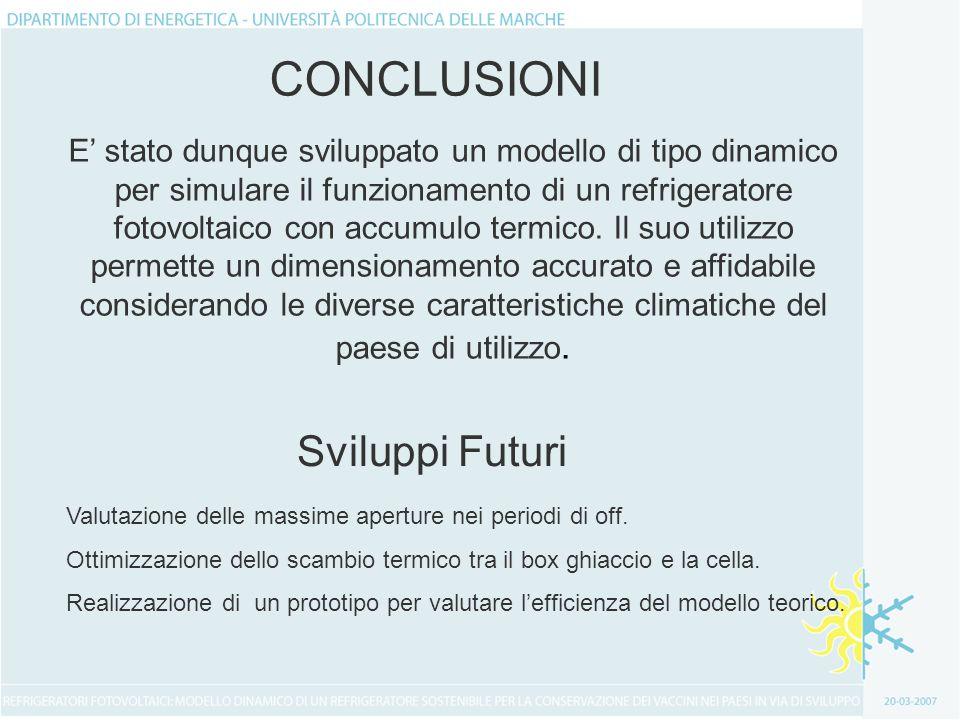 CONCLUSIONI Sviluppi Futuri