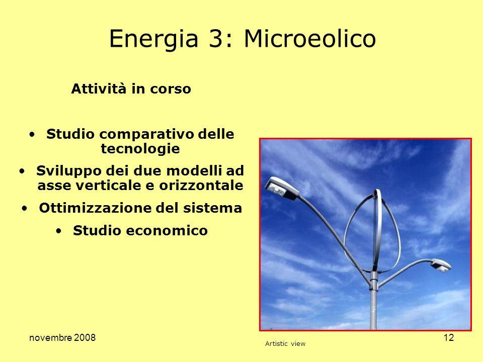 Energia 3: Microeolico Attività in corso