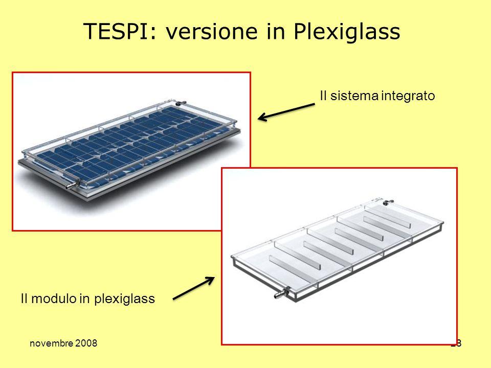 TESPI: versione in Plexiglass