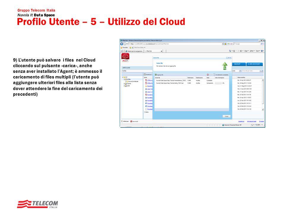 Profilo Utente – 5 – Utilizzo del Cloud
