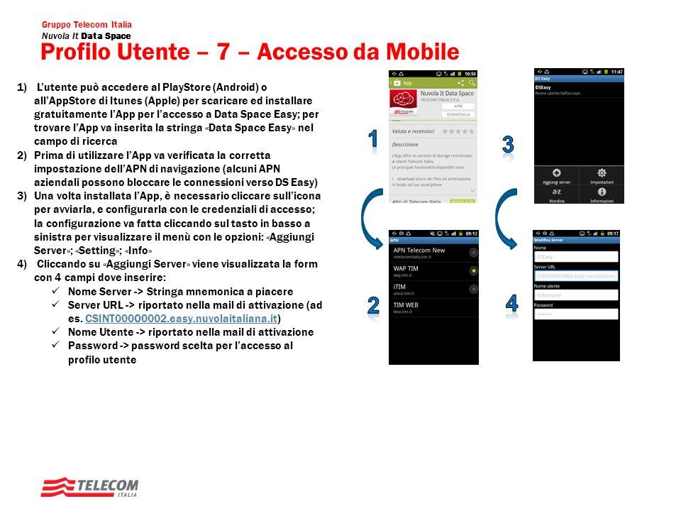 Profilo Utente – 7 – Accesso da Mobile