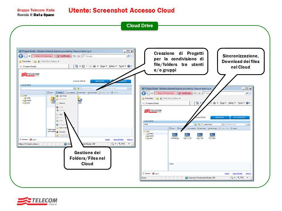 Utente: Screenshot Accesso Cloud