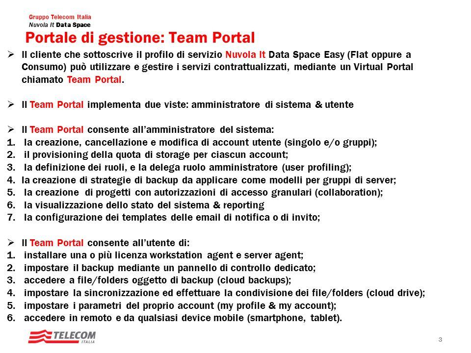 Portale di gestione: Team Portal
