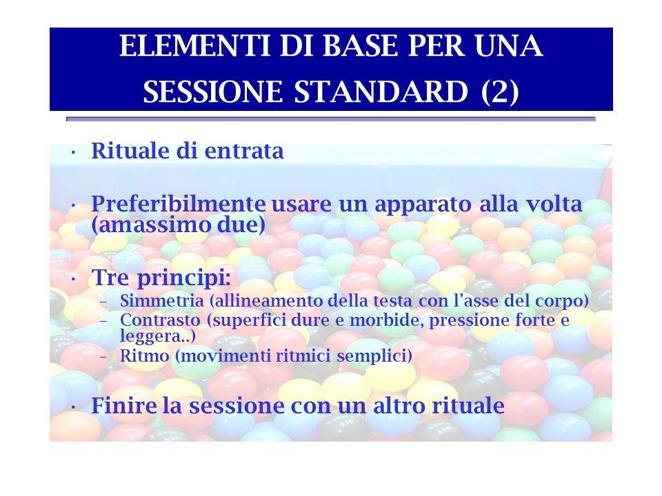 ELEMENTI DI BASE PER UNA SESSIONE STANDARD (2)