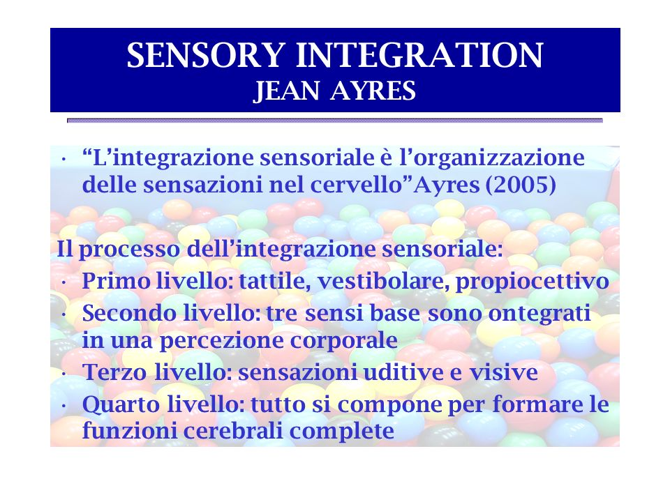 SENSORY INTEGRATION JEAN AYRES