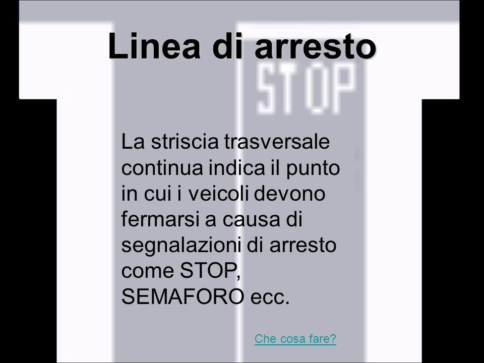 Linea di arresto