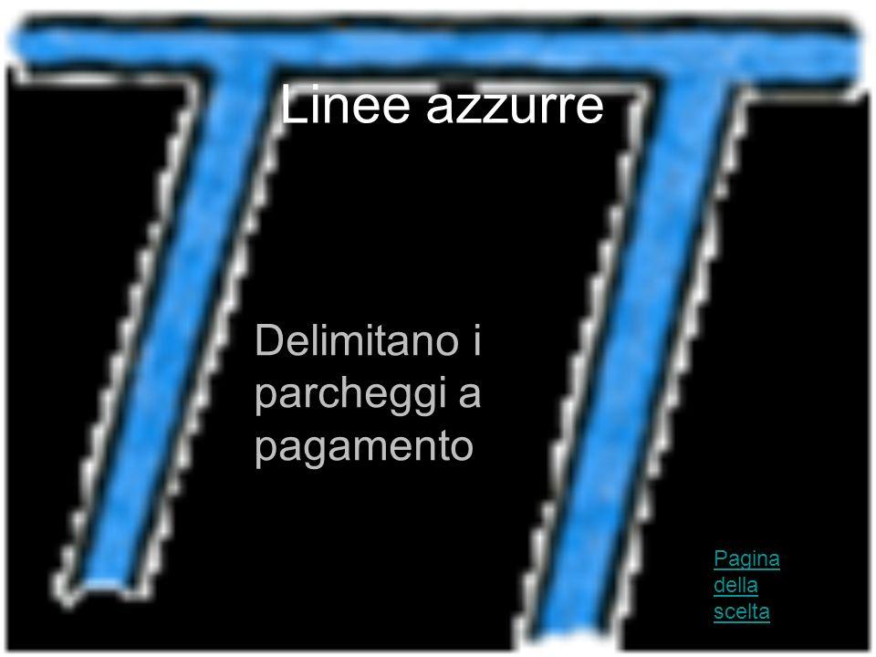 Linee azzurre Delimitano i parcheggi a pagamento Pagina della scelta