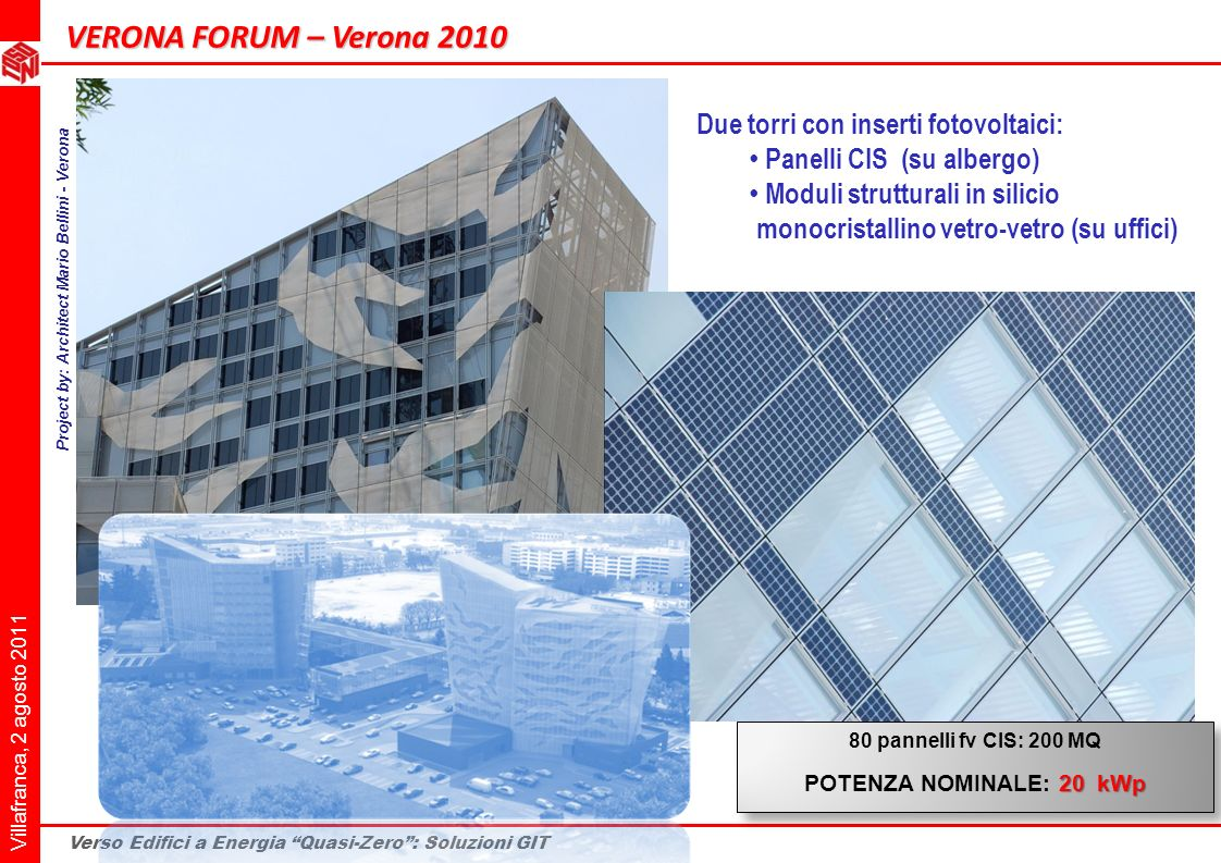 Project by: Architect Mario Bellini - Verona