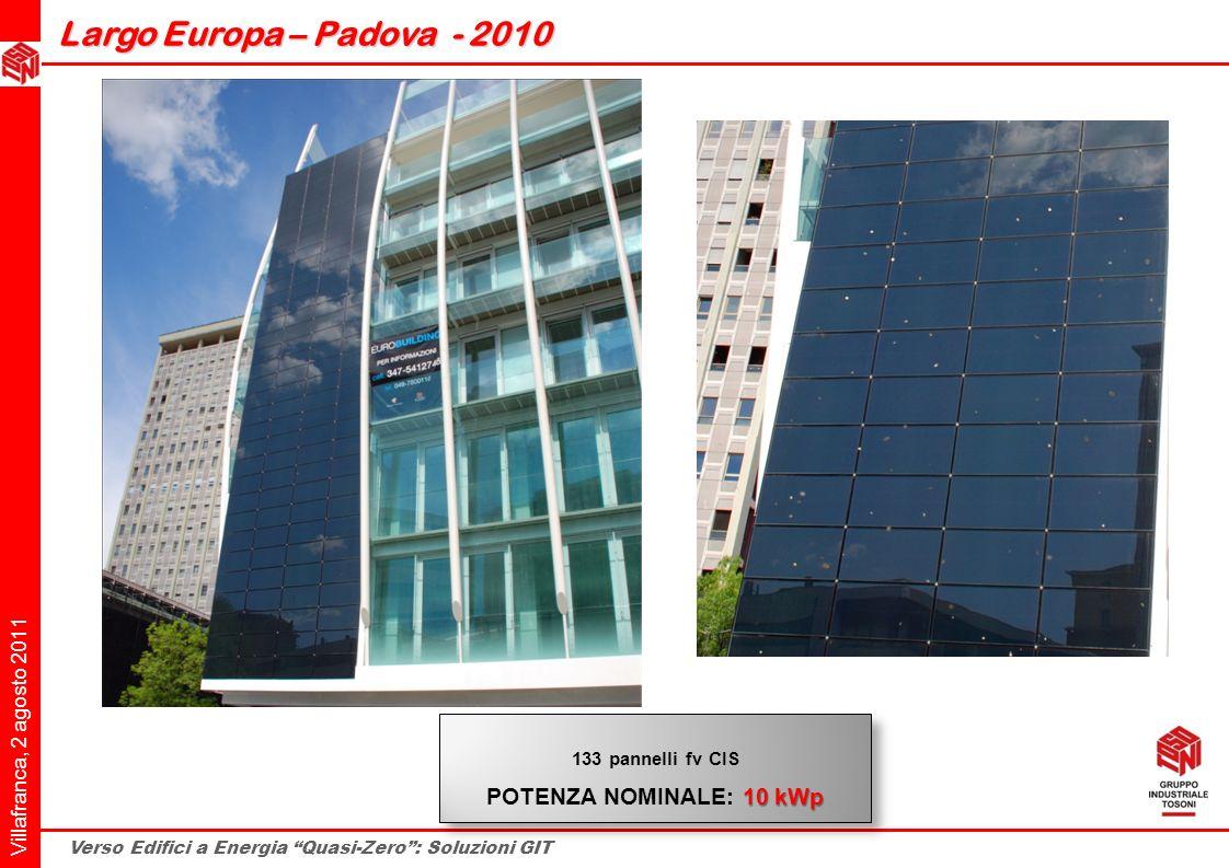 www.fotovoltaico-architettonico.it Largo Europa – Padova - 2010