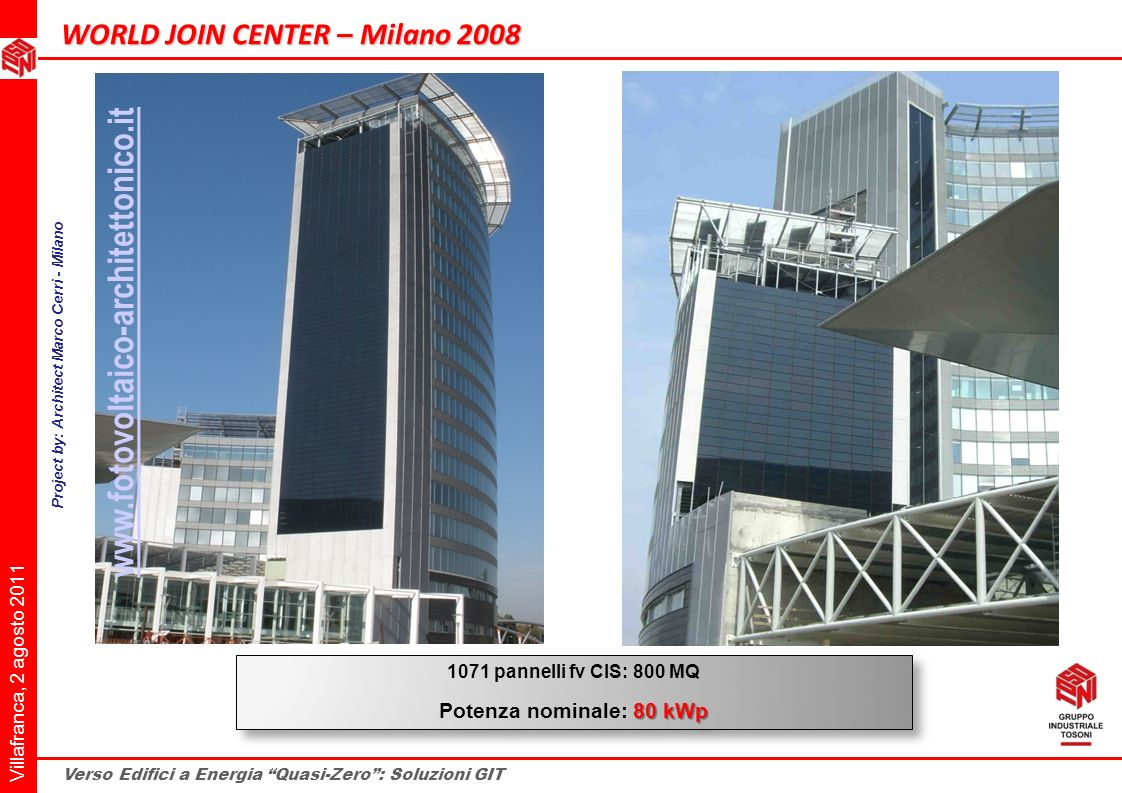 Project by: Architect Marco Cerri - Milano