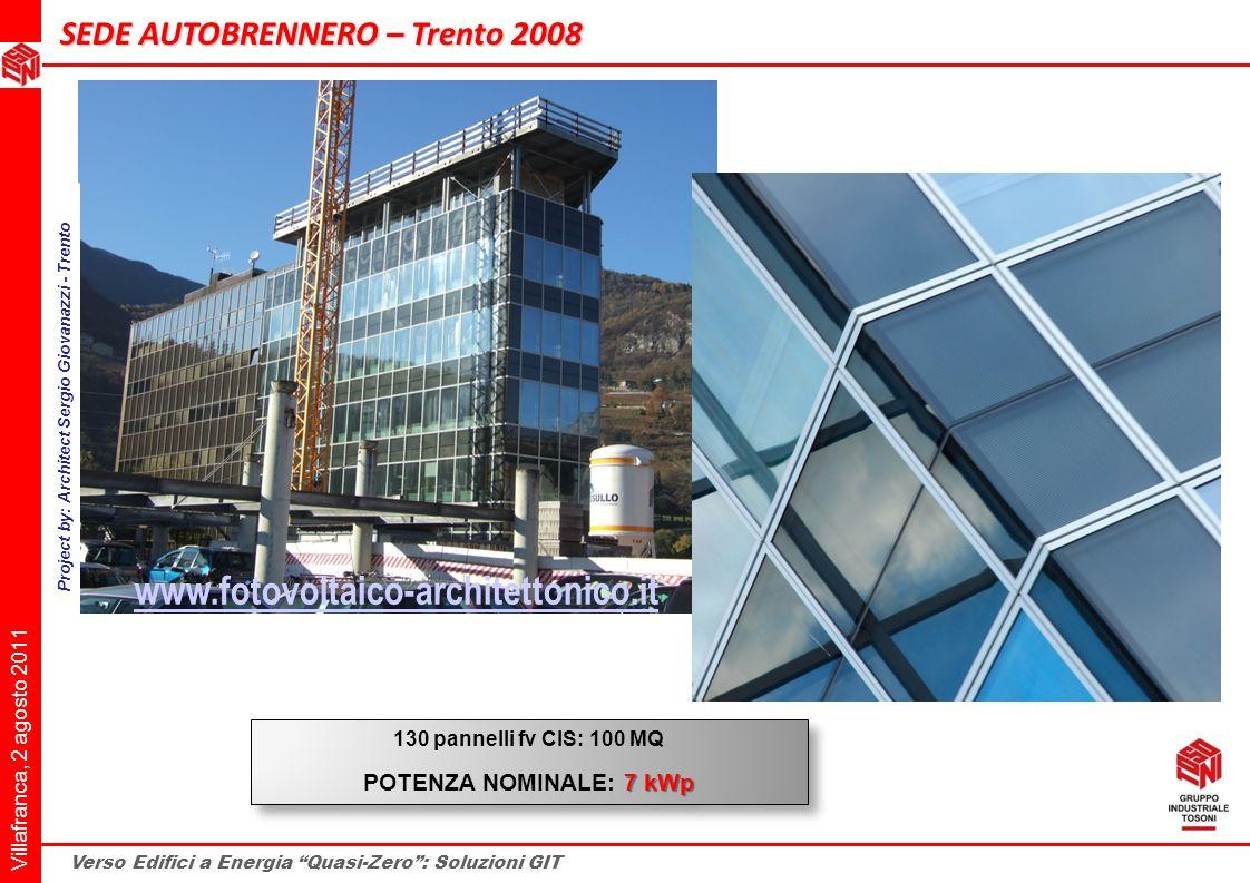 Project by: Architect Sergio Giovanazzi - Trento