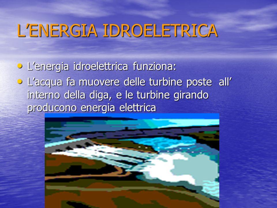 L'ENERGIA IDROELETRICA
