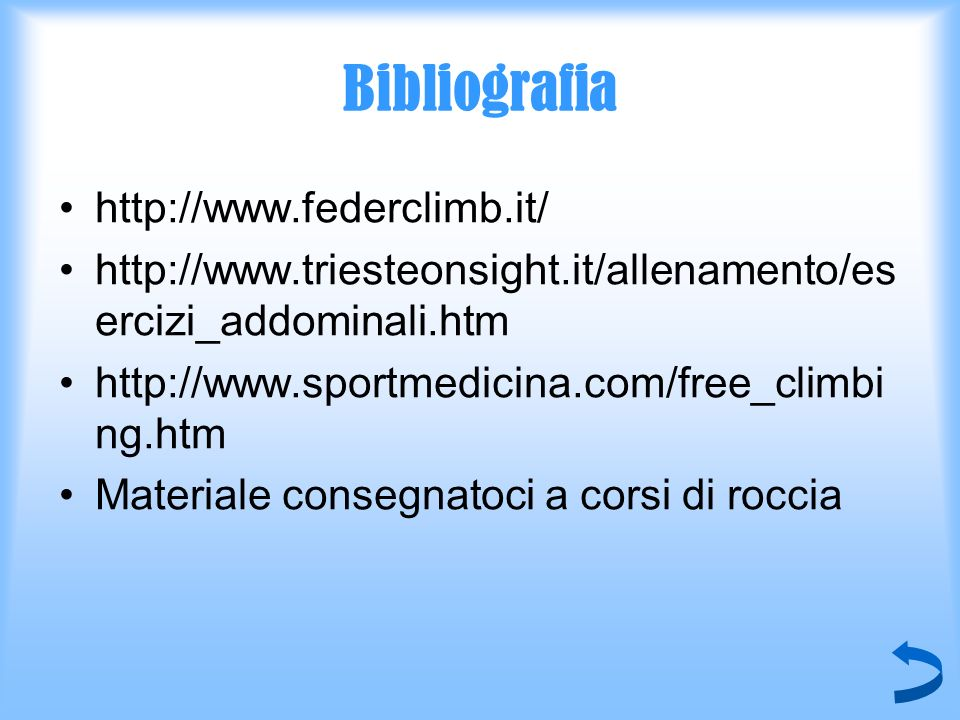 Bibliografia http://www.federclimb.it/