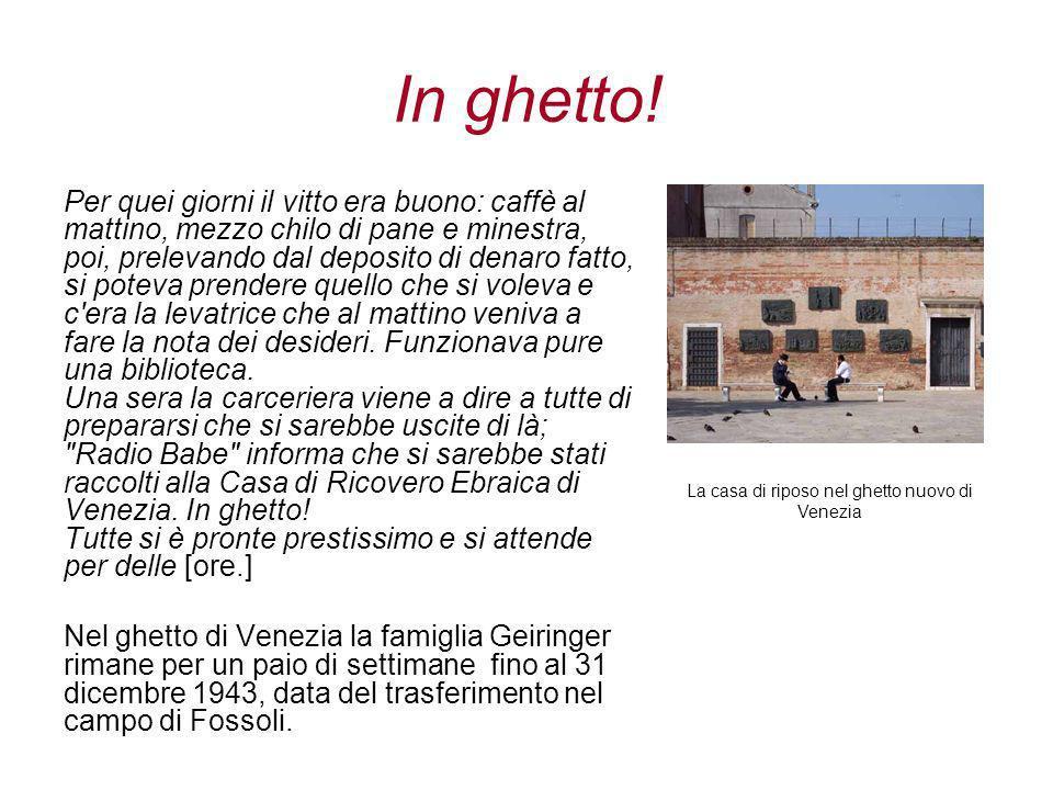 La casa di riposo nel ghetto nuovo di Venezia