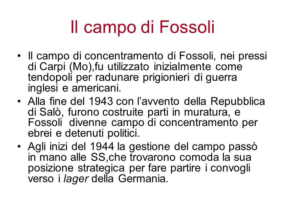 Il campo di Fossoli