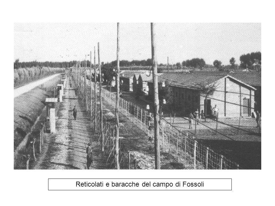 Reticolati e baracche del campo di Fossoli