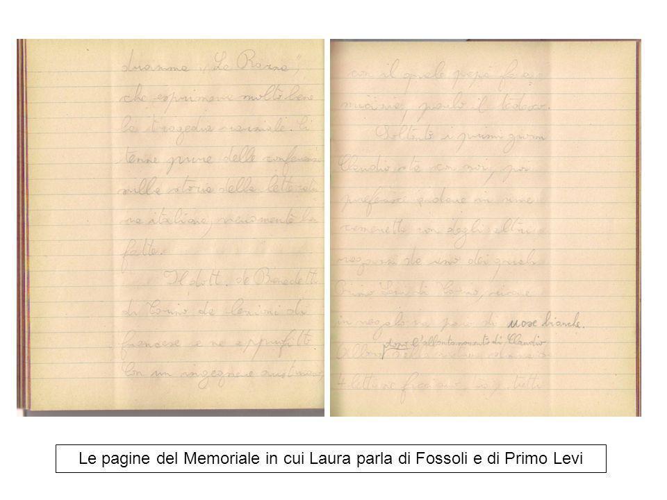 Le pagine del Memoriale in cui Laura parla di Fossoli e di Primo Levi