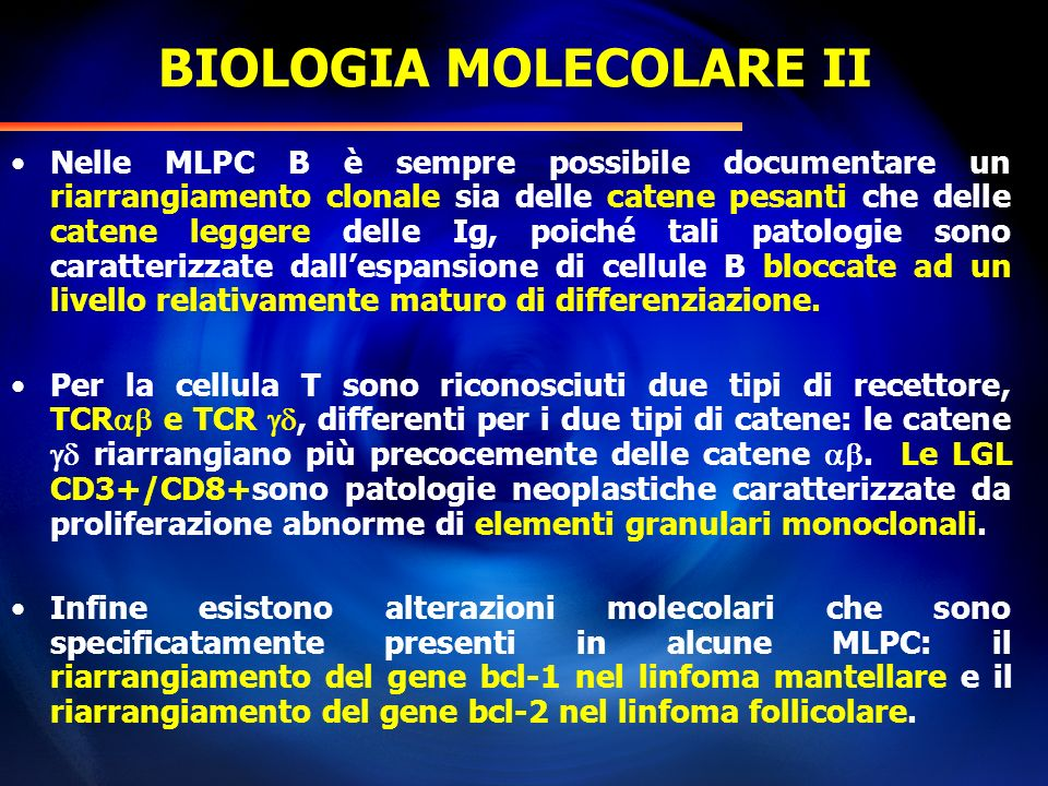 BIOLOGIA MOLECOLARE II