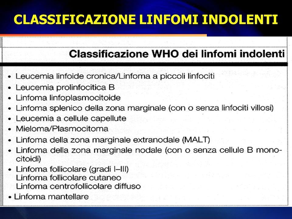 CLASSIFICAZIONE LINFOMI INDOLENTI