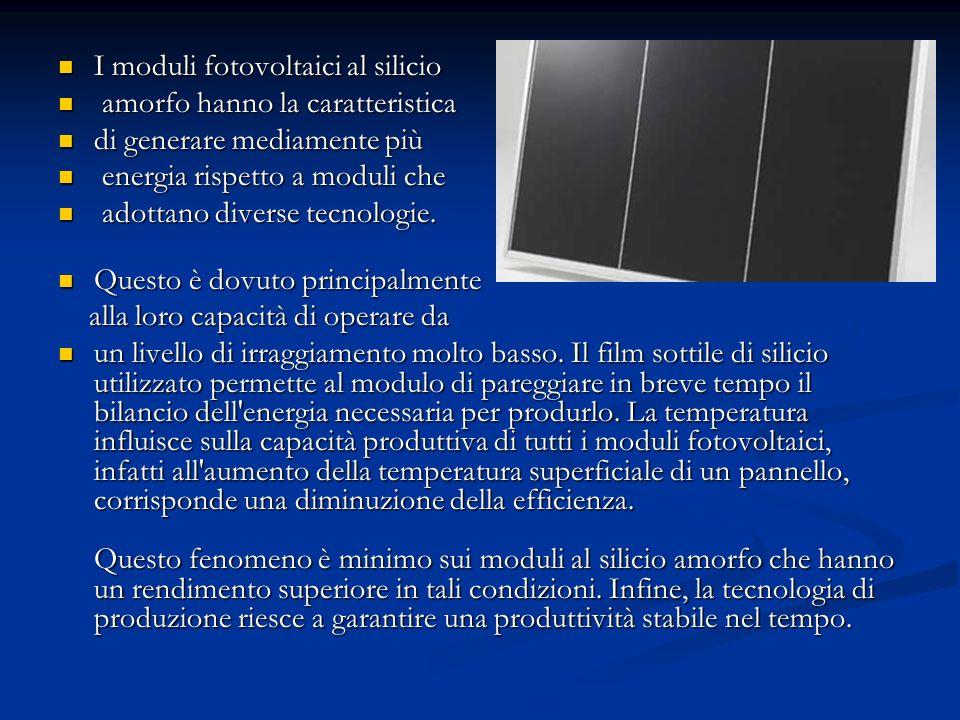 I moduli fotovoltaici al silicio