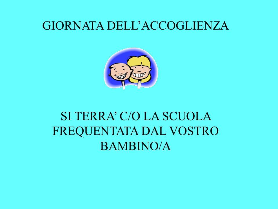 GIORNATA DELL'ACCOGLIENZA