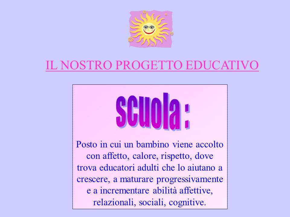 IL NOSTRO PROGETTO EDUCATIVO