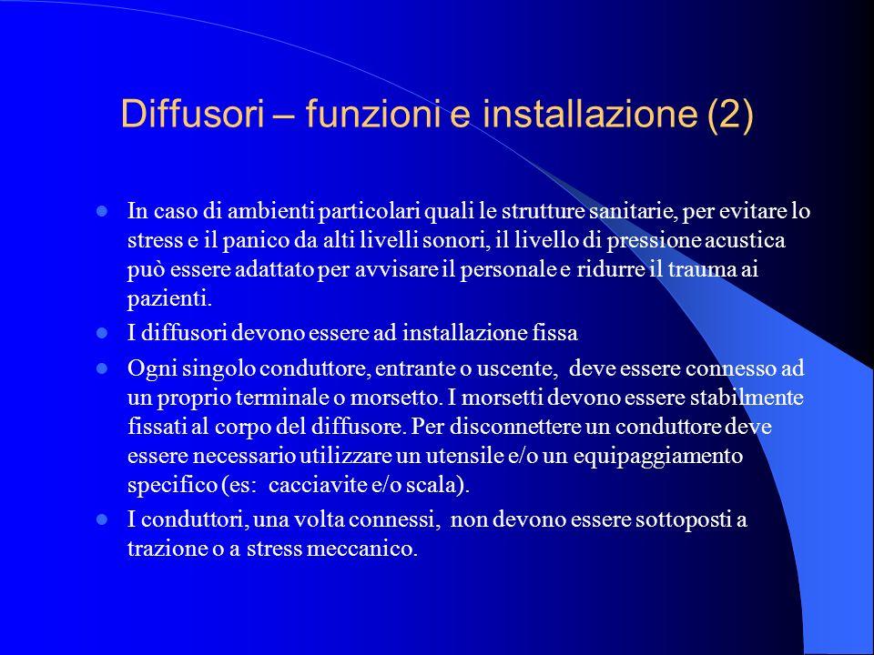 Diffusori – funzioni e installazione (2)