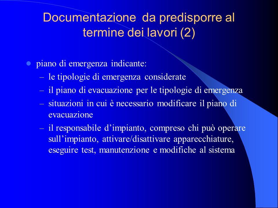 Documentazione da predisporre al termine dei lavori (2)