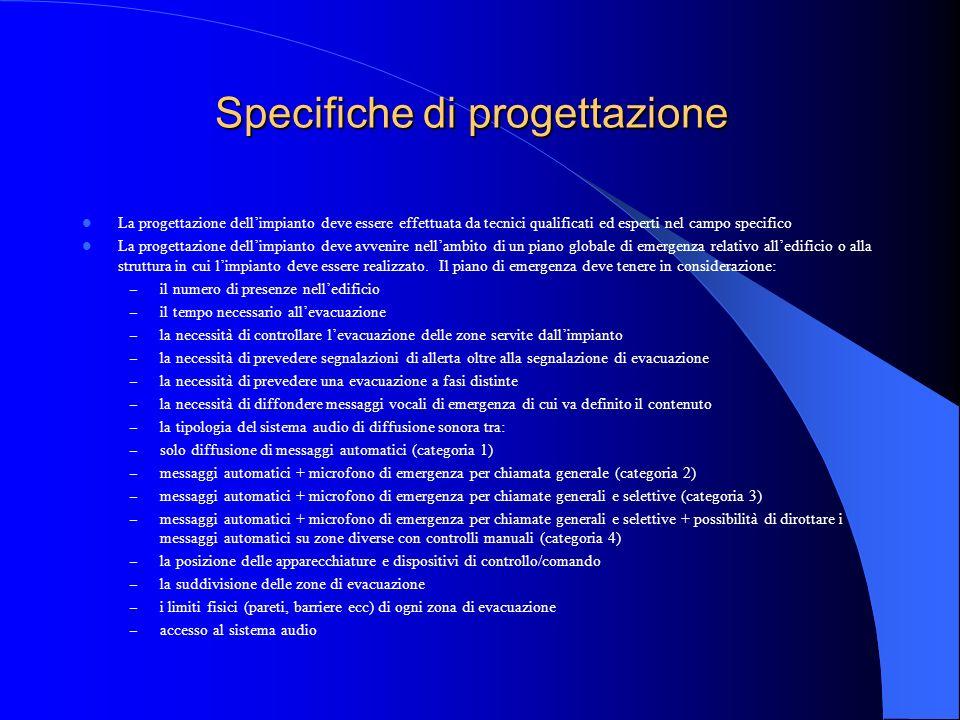 Specifiche di progettazione